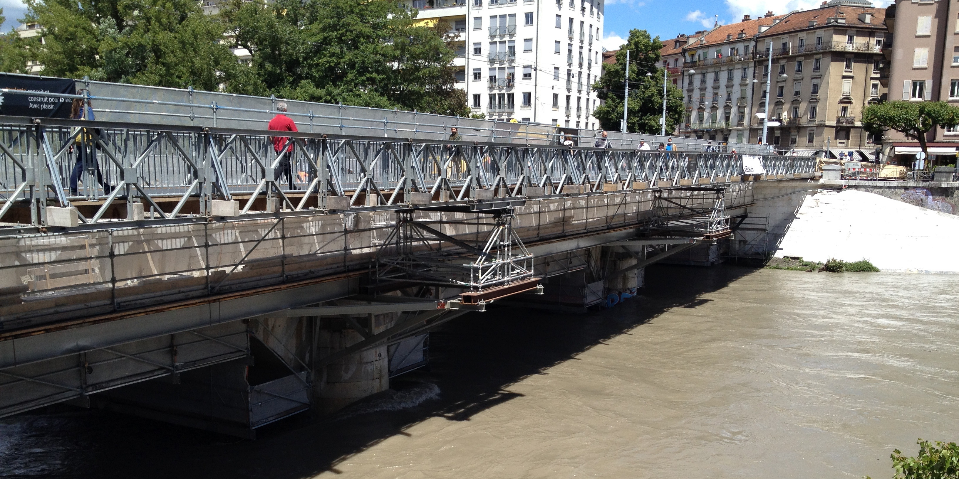 Réfection du Pont de Carouge à Genève (gestion du trafic en phase chantier)